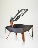 Fogón de acero con Estaca Carbon/Leña, Alphadesign  70 cms